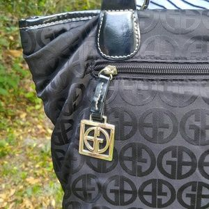 Black Giani Bernini 3 compartment monogrammed bag